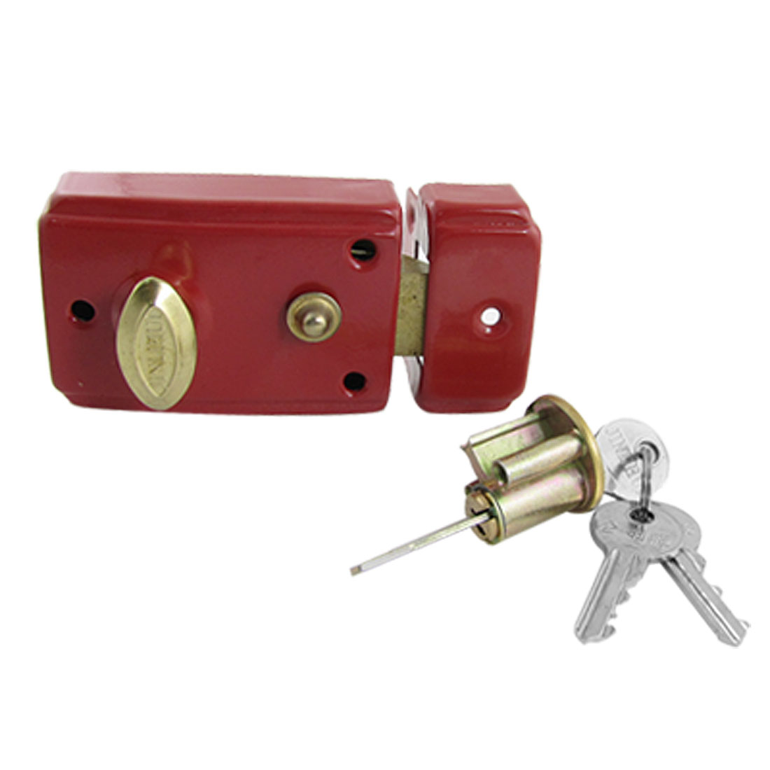 Dormitory Door Red Single Bolt Latch Lock w 3 Keys