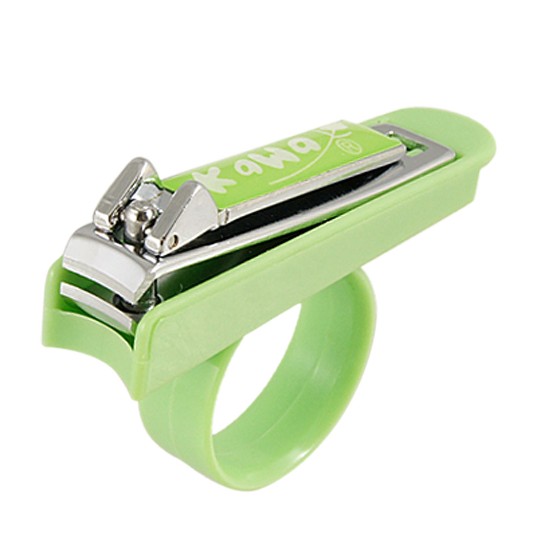 Baby Toddler Green Silver Tone Nail Clipper Cutter