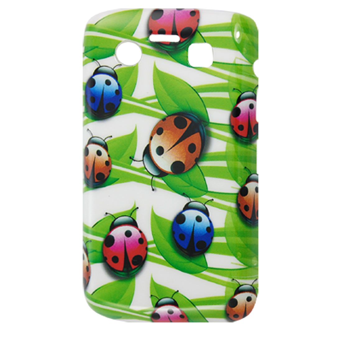 Colorful Ladybird Print IMD Plastic Back Case for Blackberry 9700 9020