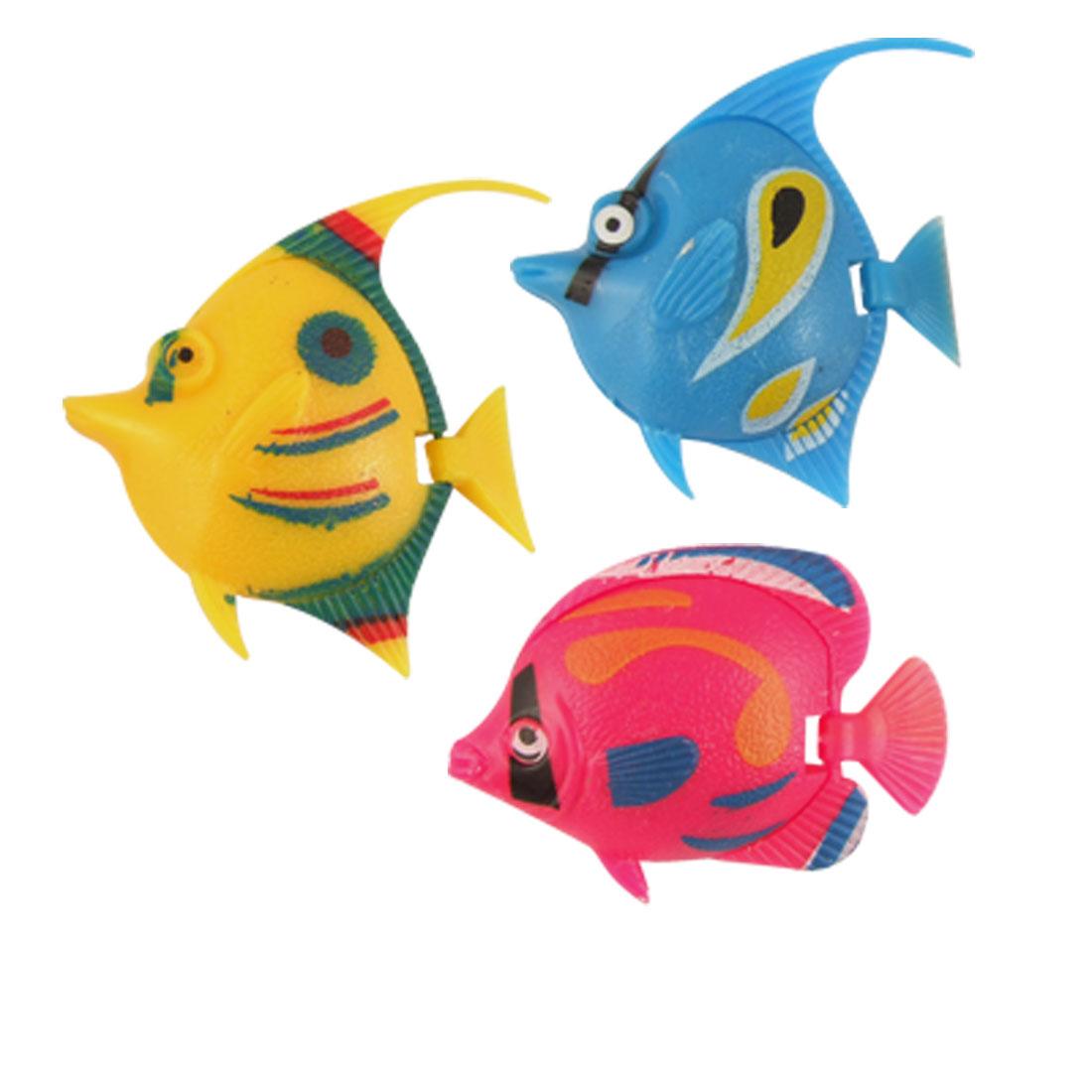 3 Pcs Colorful Plastic Wiggle Tail Fish for Aquarium