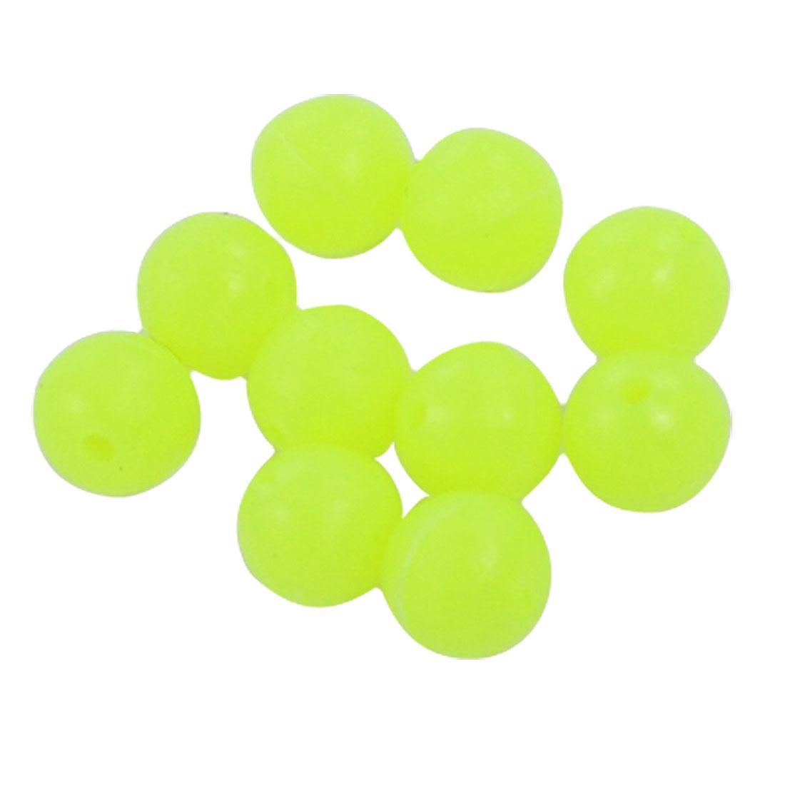 10 Pcs Round Bright Yellow Plastic Fishing Lure Beads