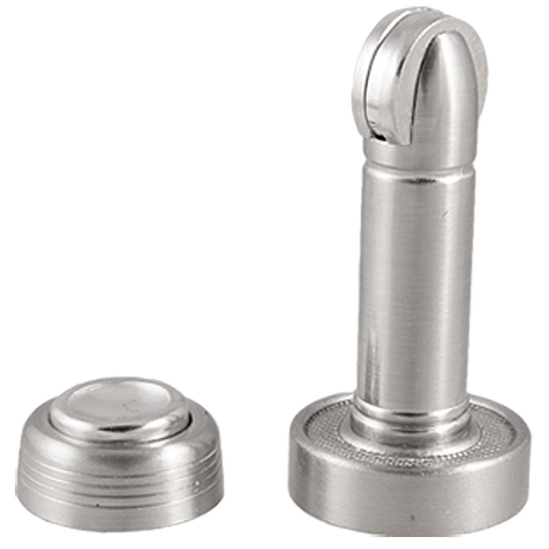 Silver Tone Metal Magnetic Door Holder Stopper Home Hardware