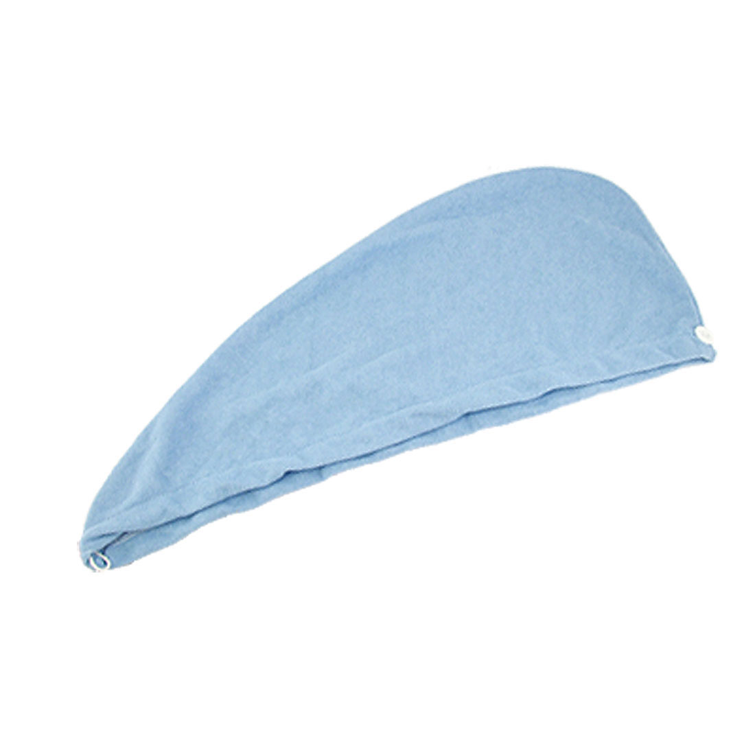 Lady Water Absorbent Microfiber Hair Dry Hat Towel Light Blue