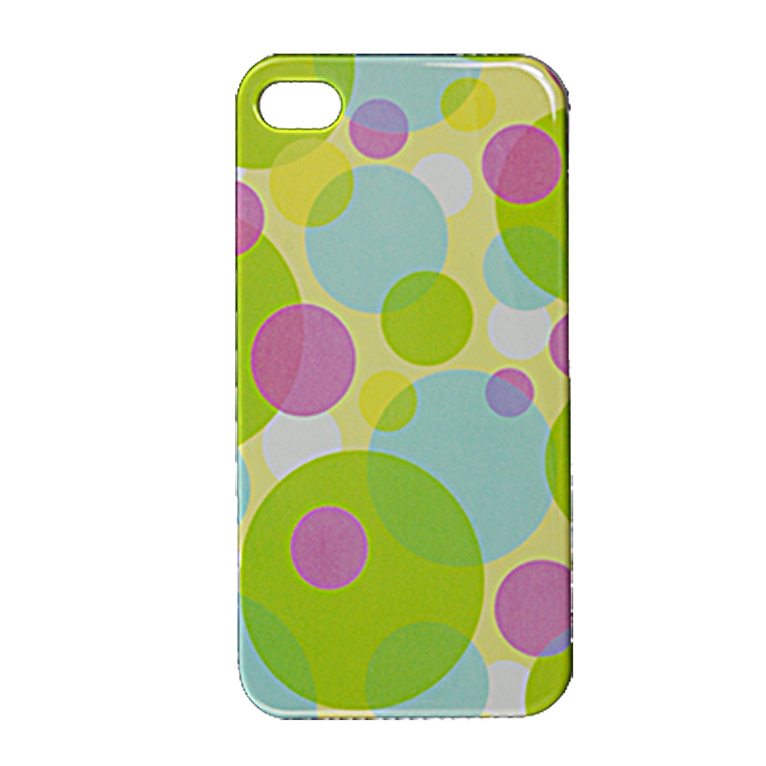 Colorful Dotted Print Plastic IMD Back Shell for iPhone 4 4G