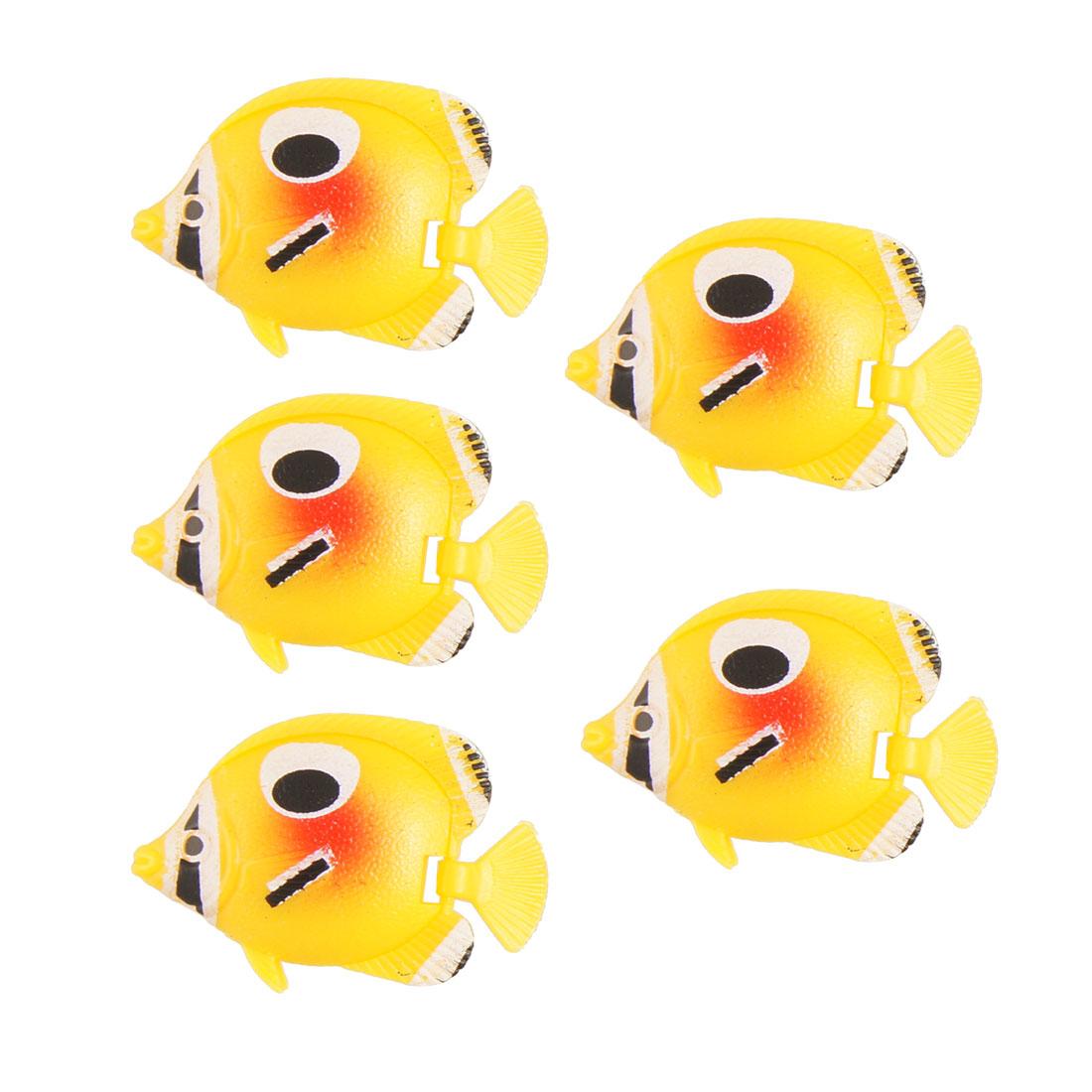 Aquarium Yellow Aquascaping Swing Tail Floating Fish