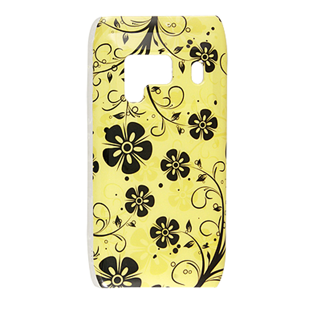 IMD Black Flower Yellow Hard Plastic Back Shell for Nokia N8