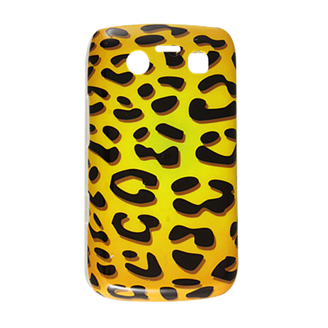 Yellow Black Leopard Print Back Case Cover for BlackBerry 9700 9020