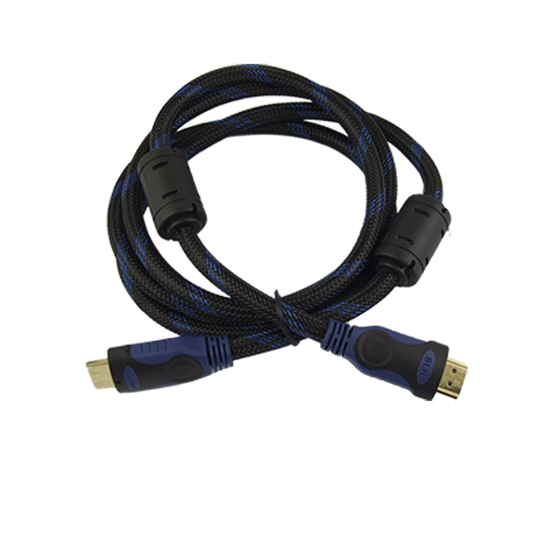 HDMI 19 Pins Male to Male Connector Cable 1.5M Black Blue for HDTV