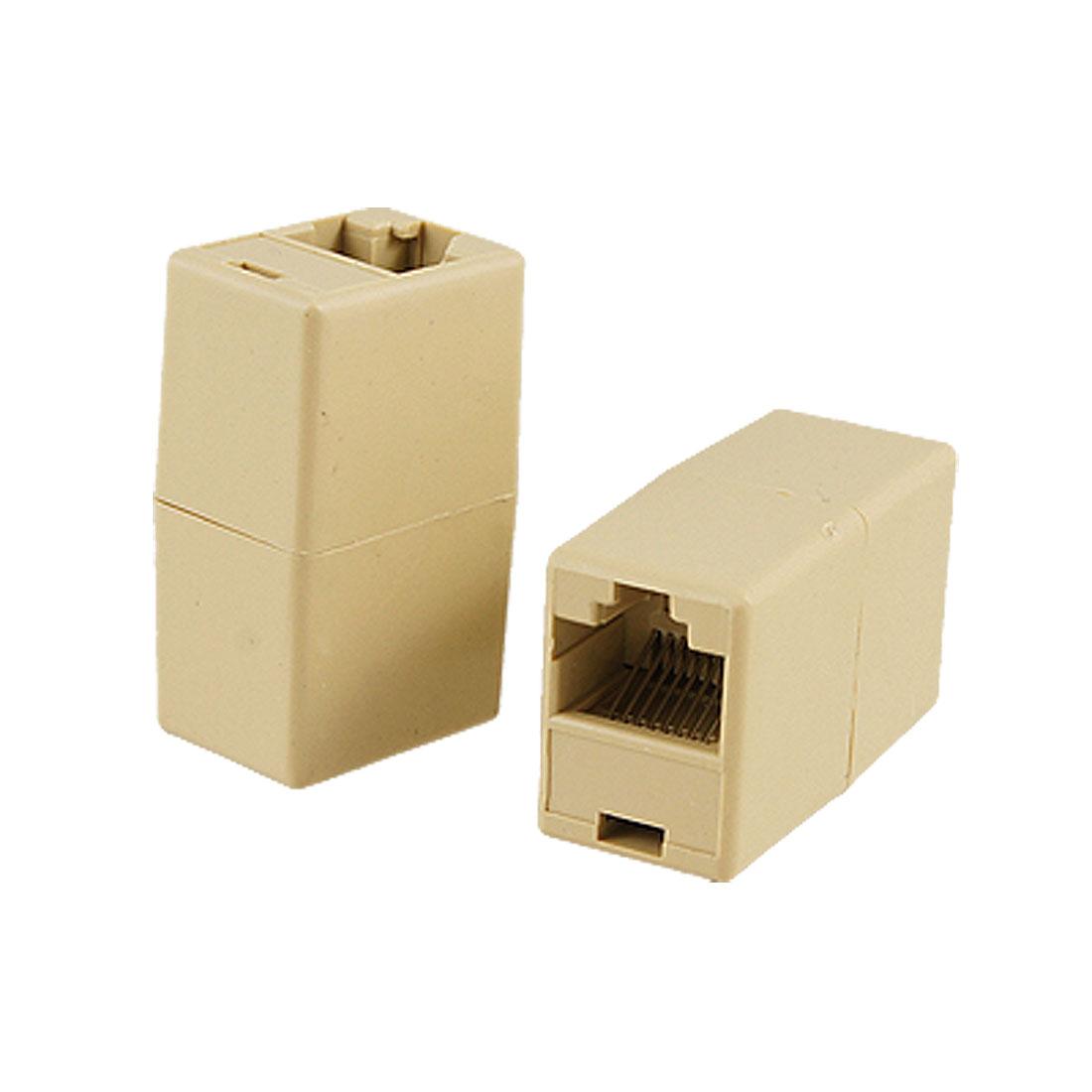 RJ45 F/F LAN Network Inline Splitter Extender Coupler
