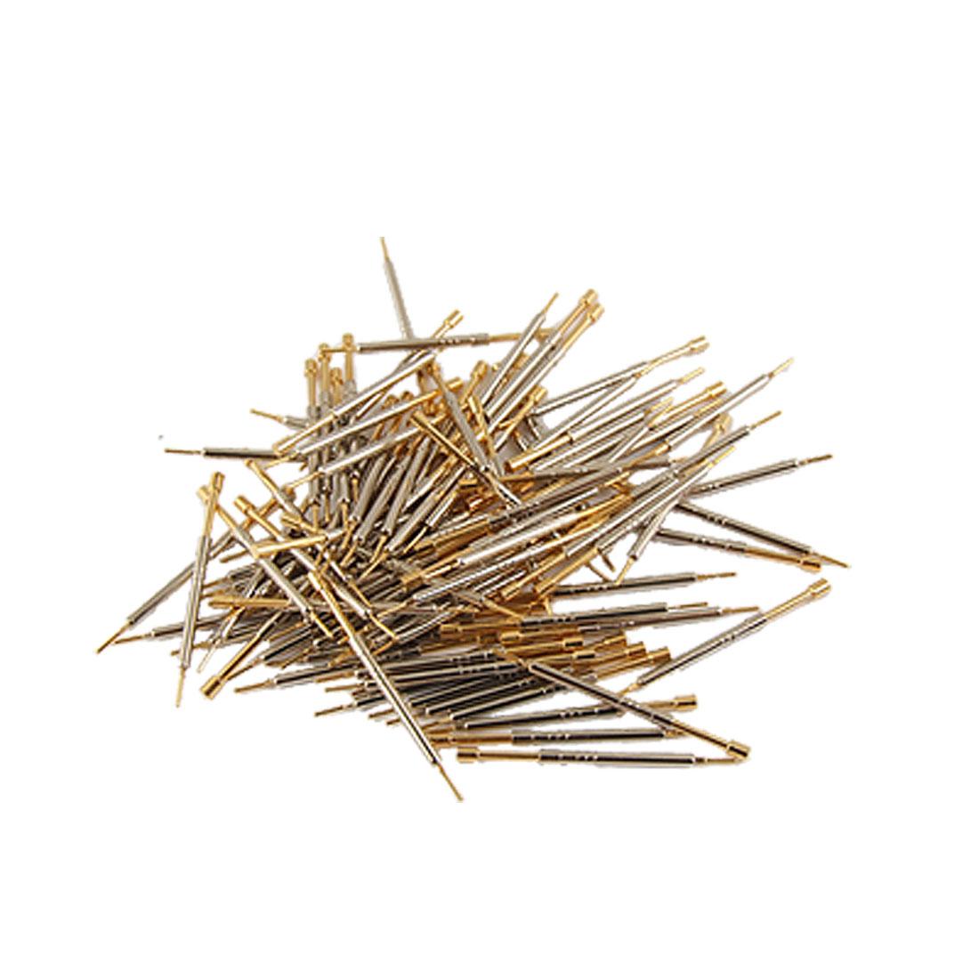 100 Pcs 1.3mm Diameter Flat Tip Spring Test Probes Pin