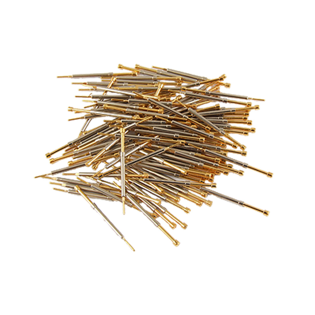 100 Pcs 1.1mm Dia Serrated Tip Push Spring Test Probes