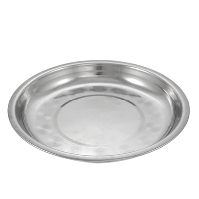 Kitchen 19cm Dia Stainless Steel Dinner Plate Dish