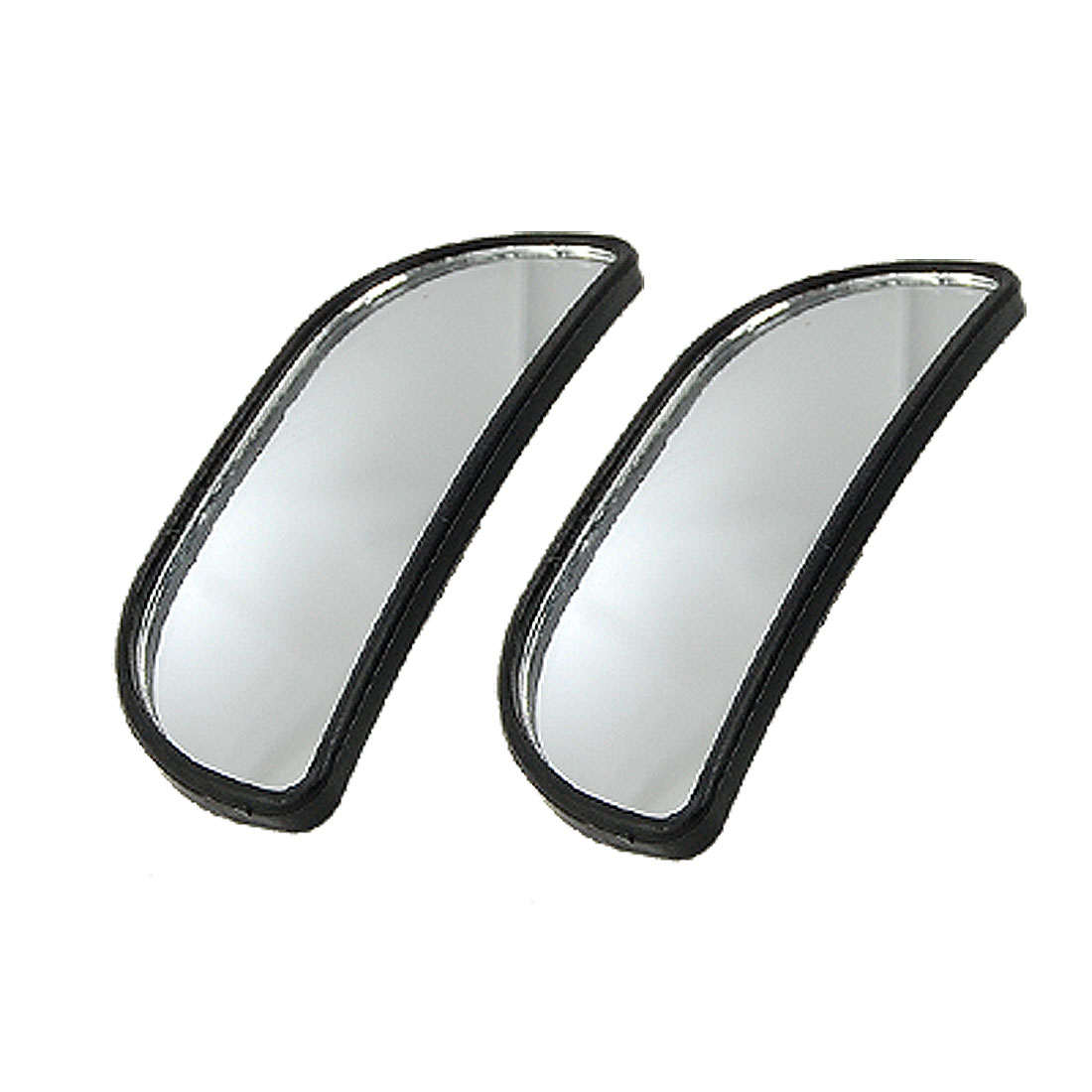 2pcs Black Car Auto Adjustable Wide Angle Side Rearview Blind Spot Mirror