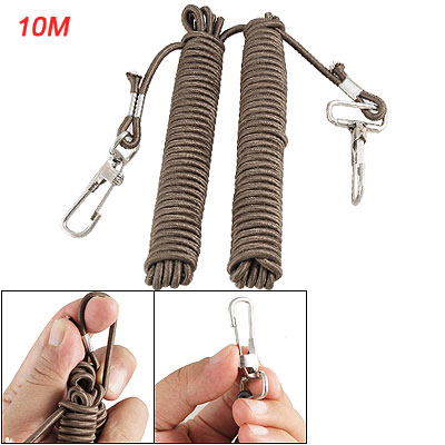 Retractable Elastic Line Double Lobster Hook Fishing Gear Rope 10M