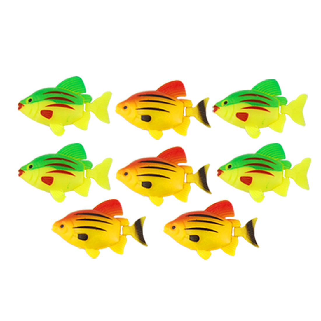 8 Pcs Colorful Floating Crucian Fish Plastic Ornament for Aquarium