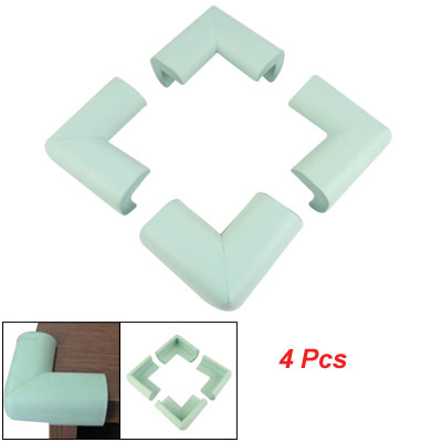 Children Safety 4 Pcs Baby Blue Flexible Corner Guard Cushion