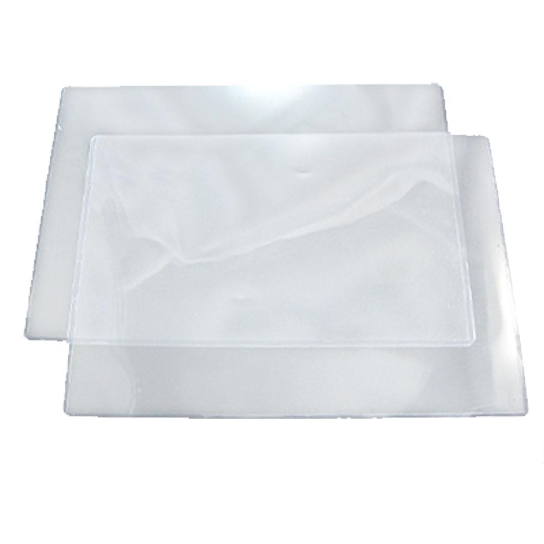 2 Pcs Clear Plastic Holder A4 Document Files Photos Cards Storage Case