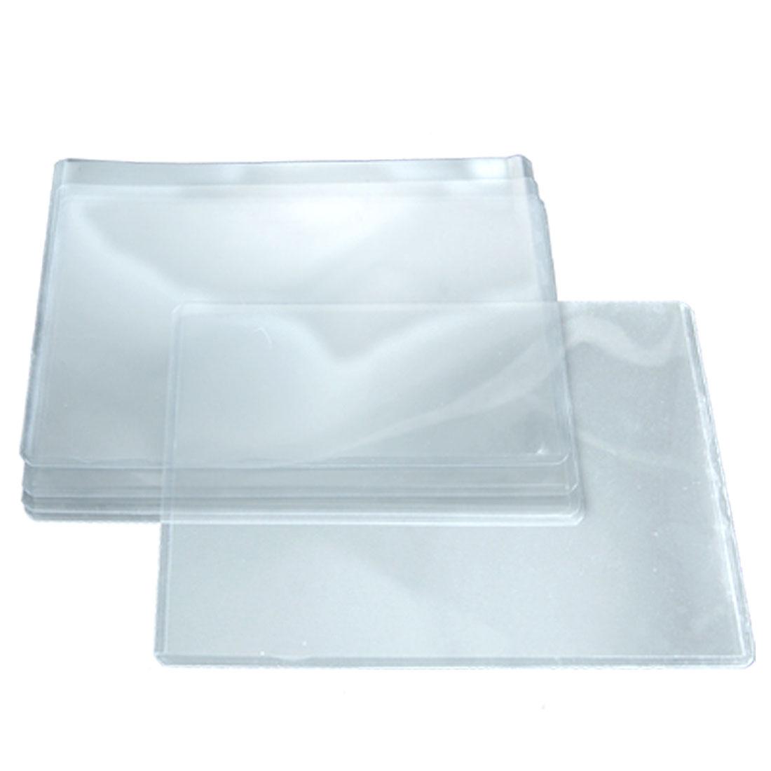 A5 Document Files Photos Card Case Plastic Horizontal Holder 5 Pcs