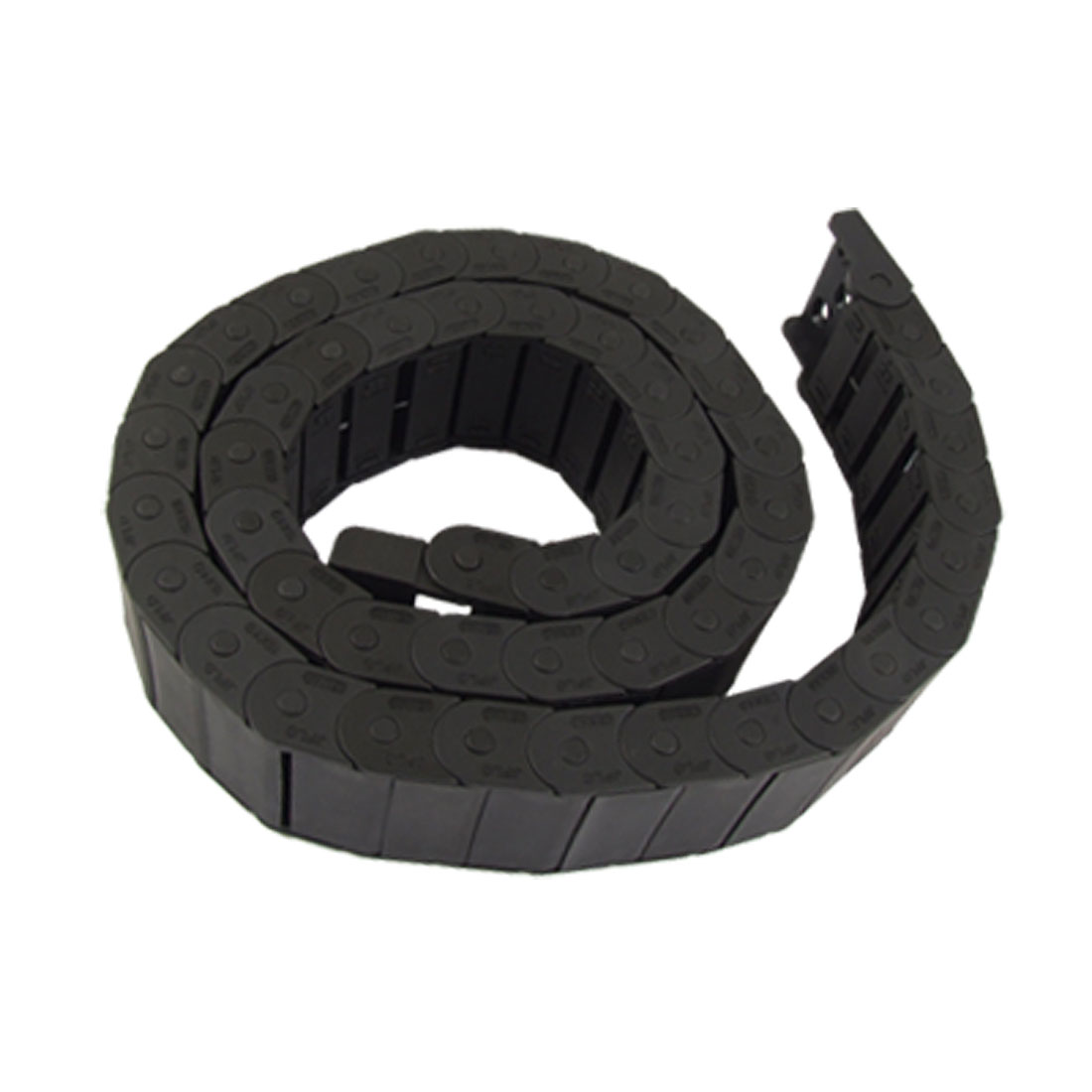 15 x 40mm Black Plastic Towline Semi Enclosed Type Drag Chain