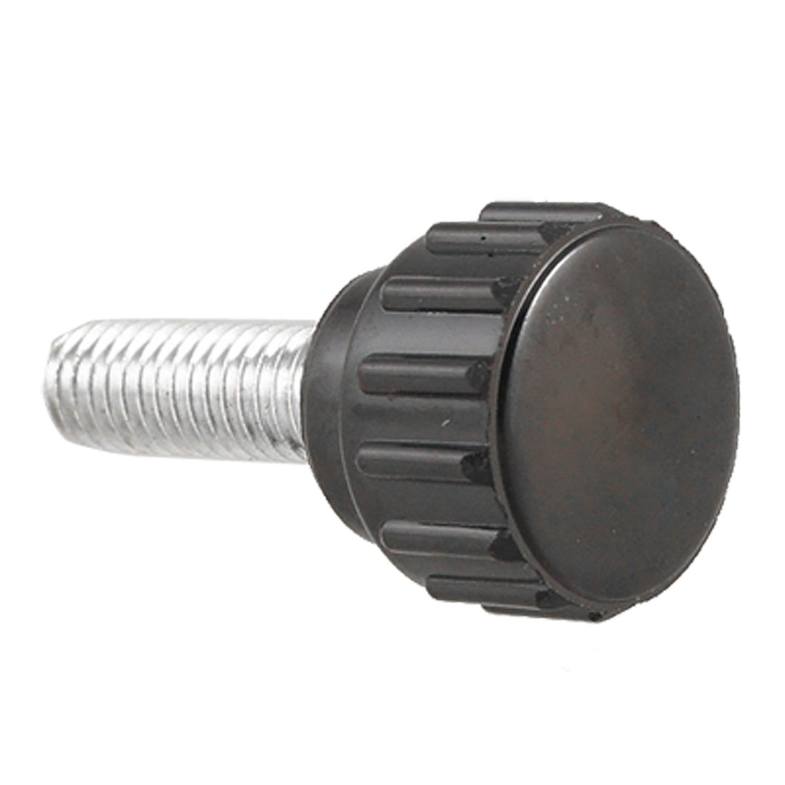 Metal 5mm Diameter 15mm Length Male Thread Knurled Knob