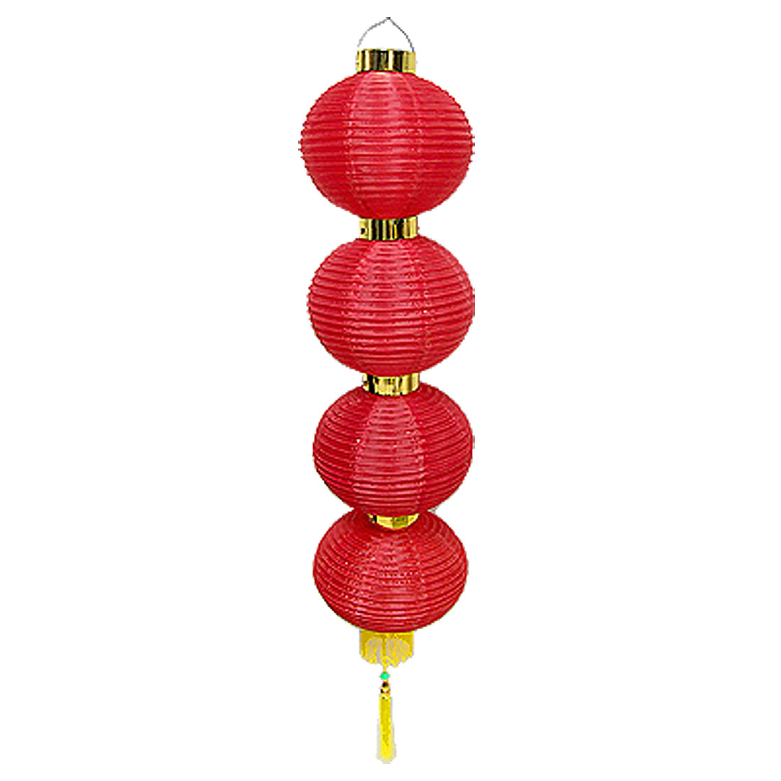 Home Red Hanging 4 Layers Folding Lantern Ornament