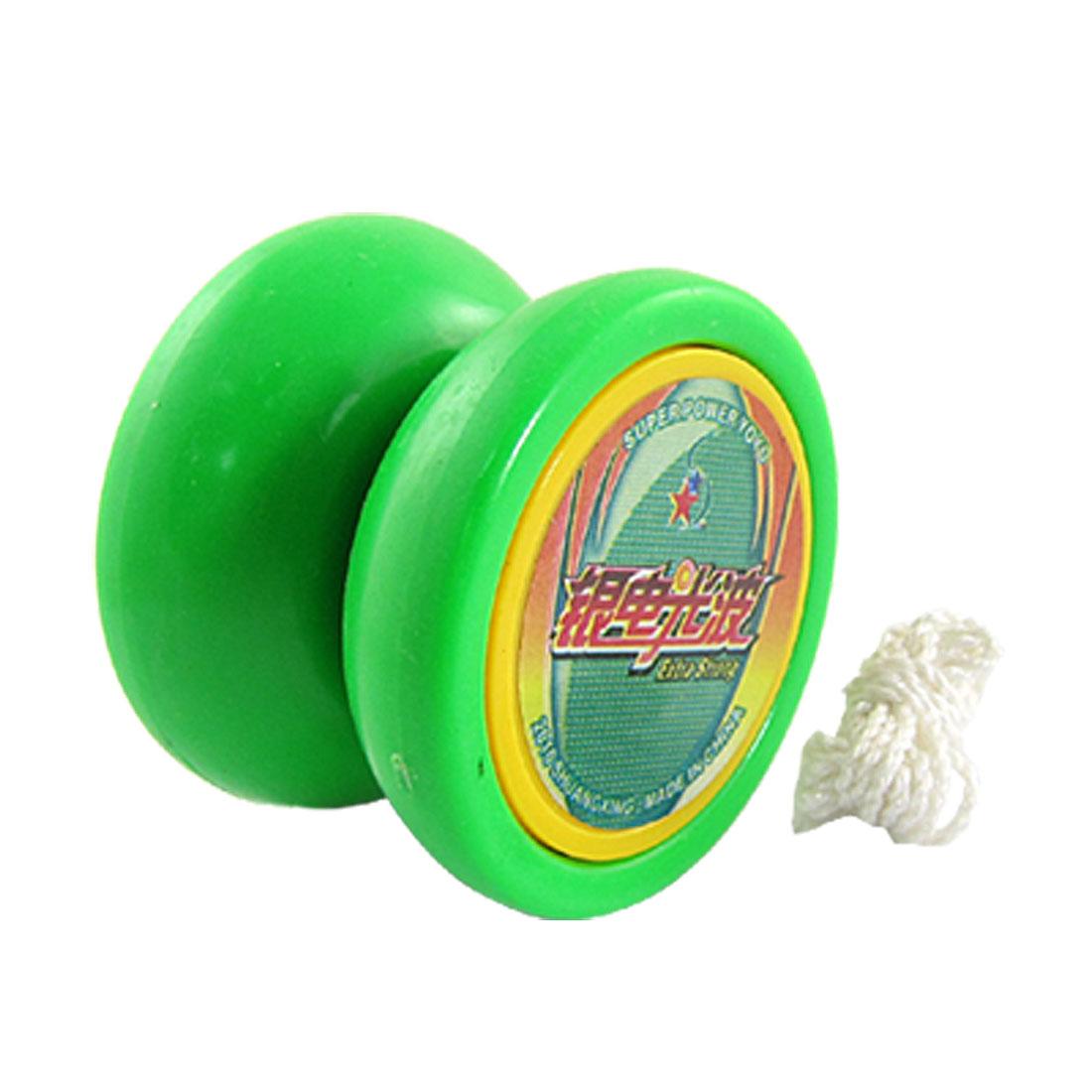 Green Plastic Wheels Metal Axle Yo Yo Ball Toy Gift