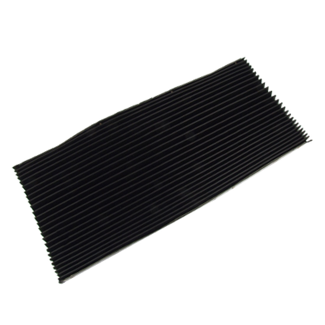 CNC Machine Black Rubber Accordion Pleats Shield Cover