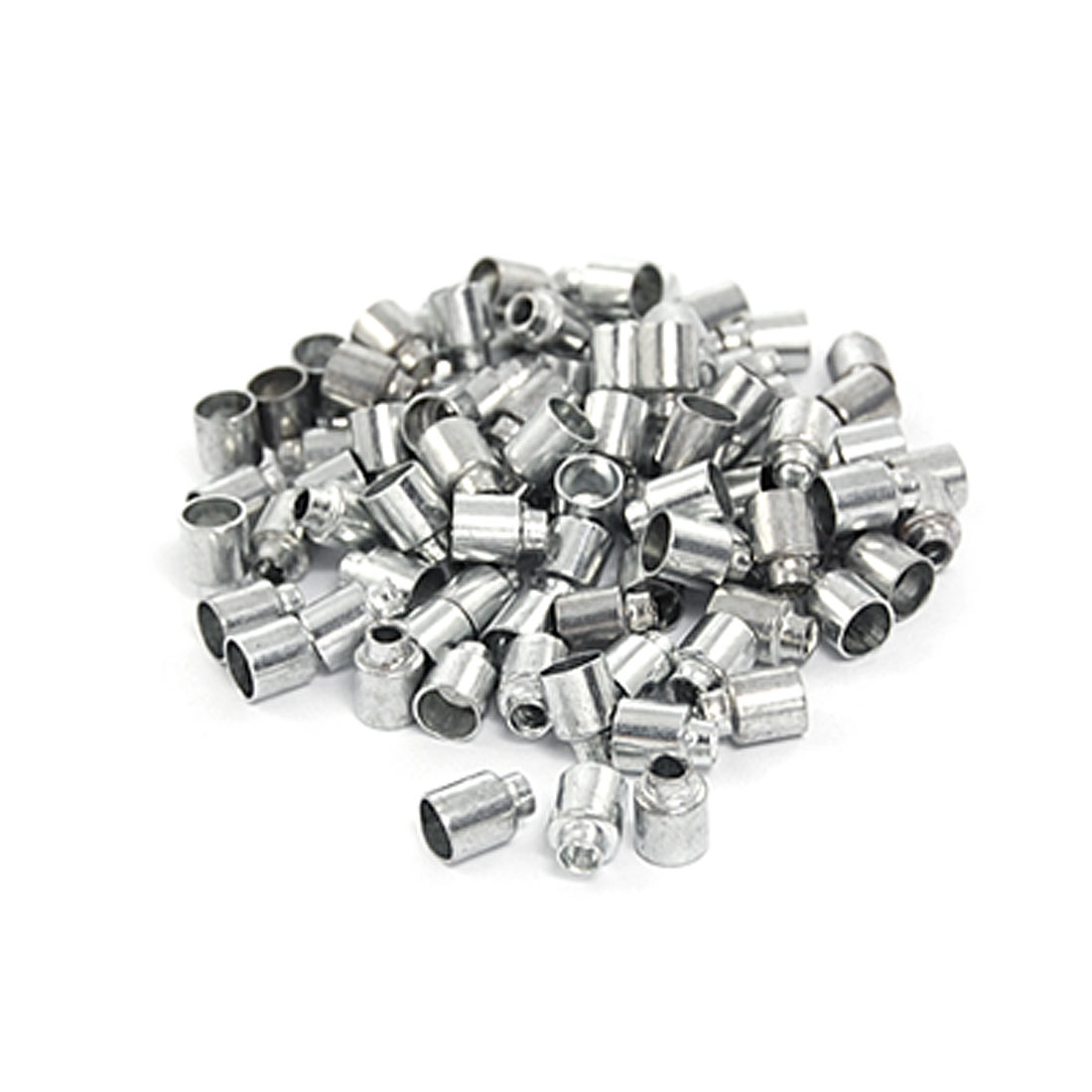 96 Pcs Silver Tone Bicycle Bike Brake Cable Housing Ferrules Cap 6mm