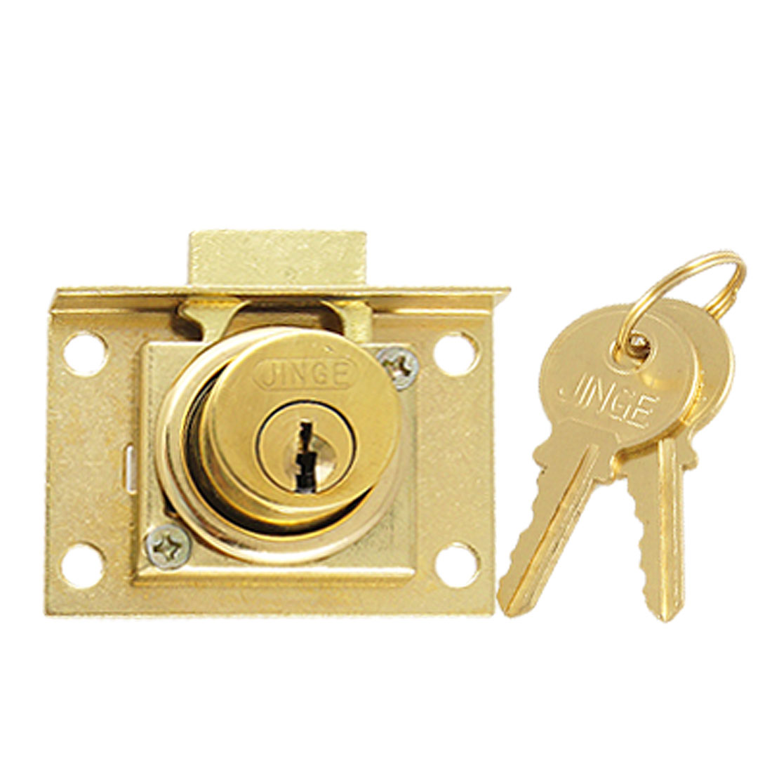 "Mailbox Drawer Safety 4/5"" Cylinder Diameter Locker Key Lock Gold Tone"