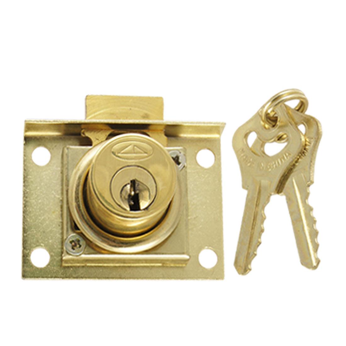 "Quarter Turn Drawer 4/5"" Diameter Cylinder Lock w Keys"