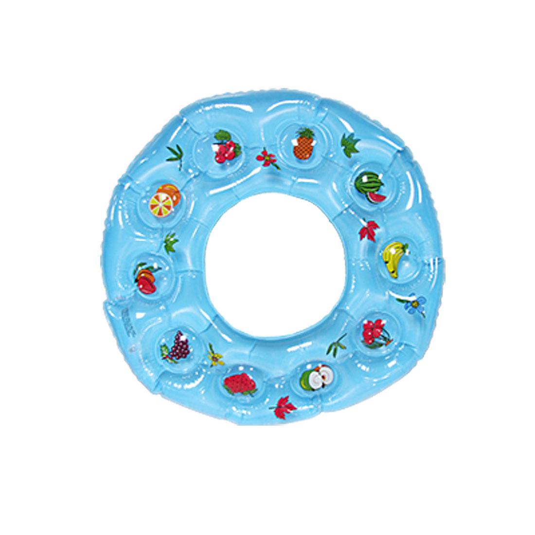 Fruit Print Blue Floating Swim Ring for Children