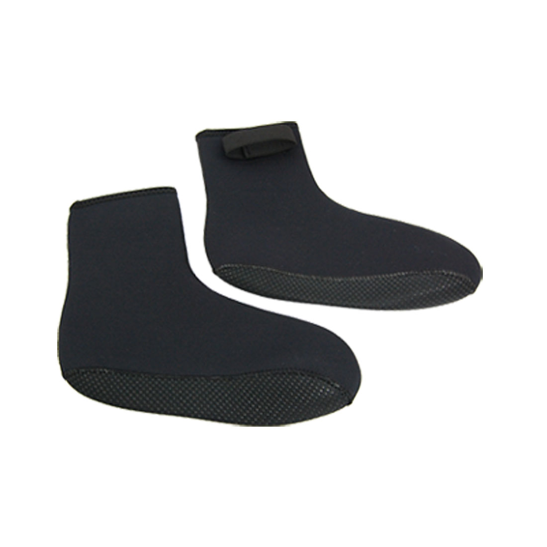 2 Pcs Black Nonslip Sole Neoprene Diving Boots Diver Socks