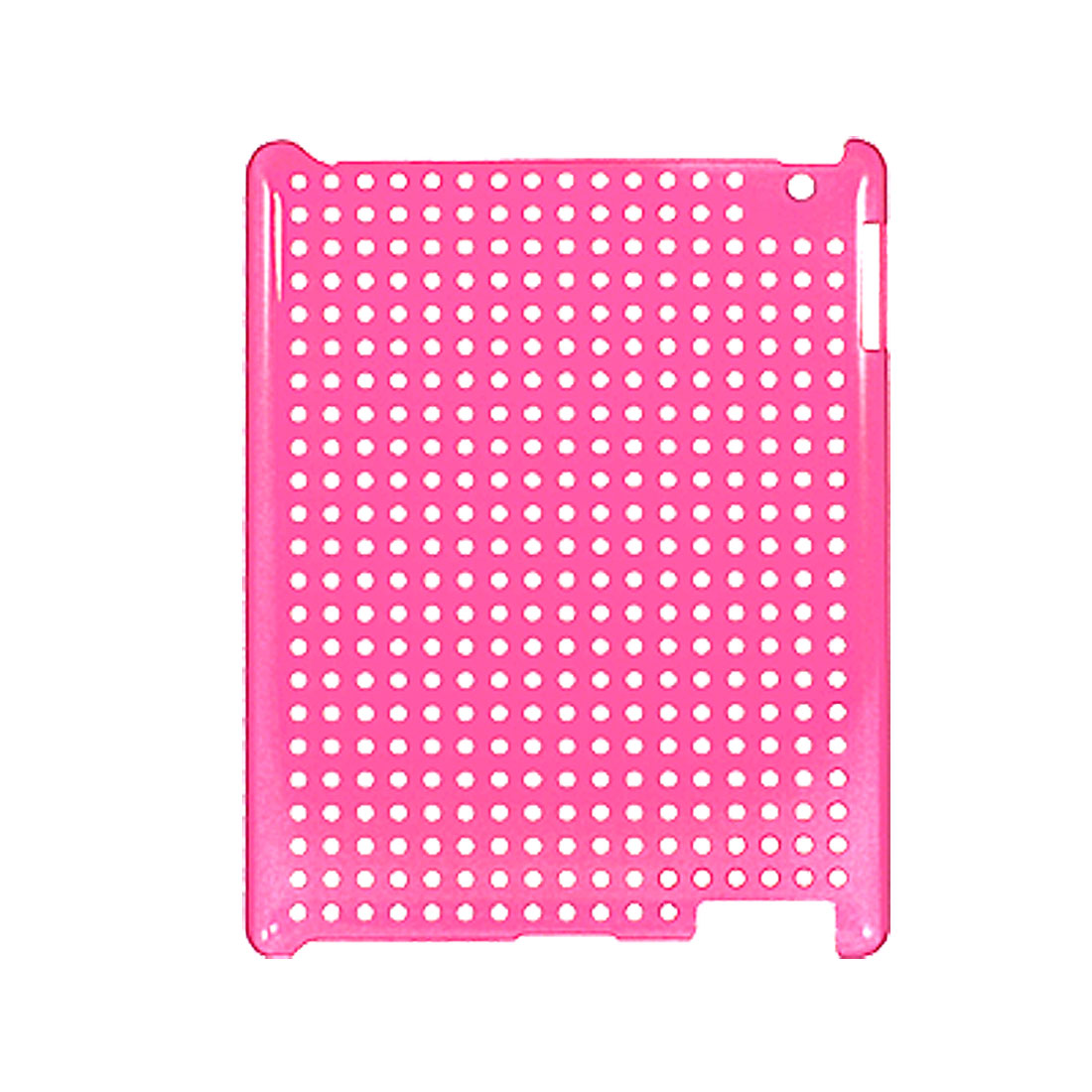 Hard Plastic Cut out Circles Hot Pink Back Cover for iPad 2 2G