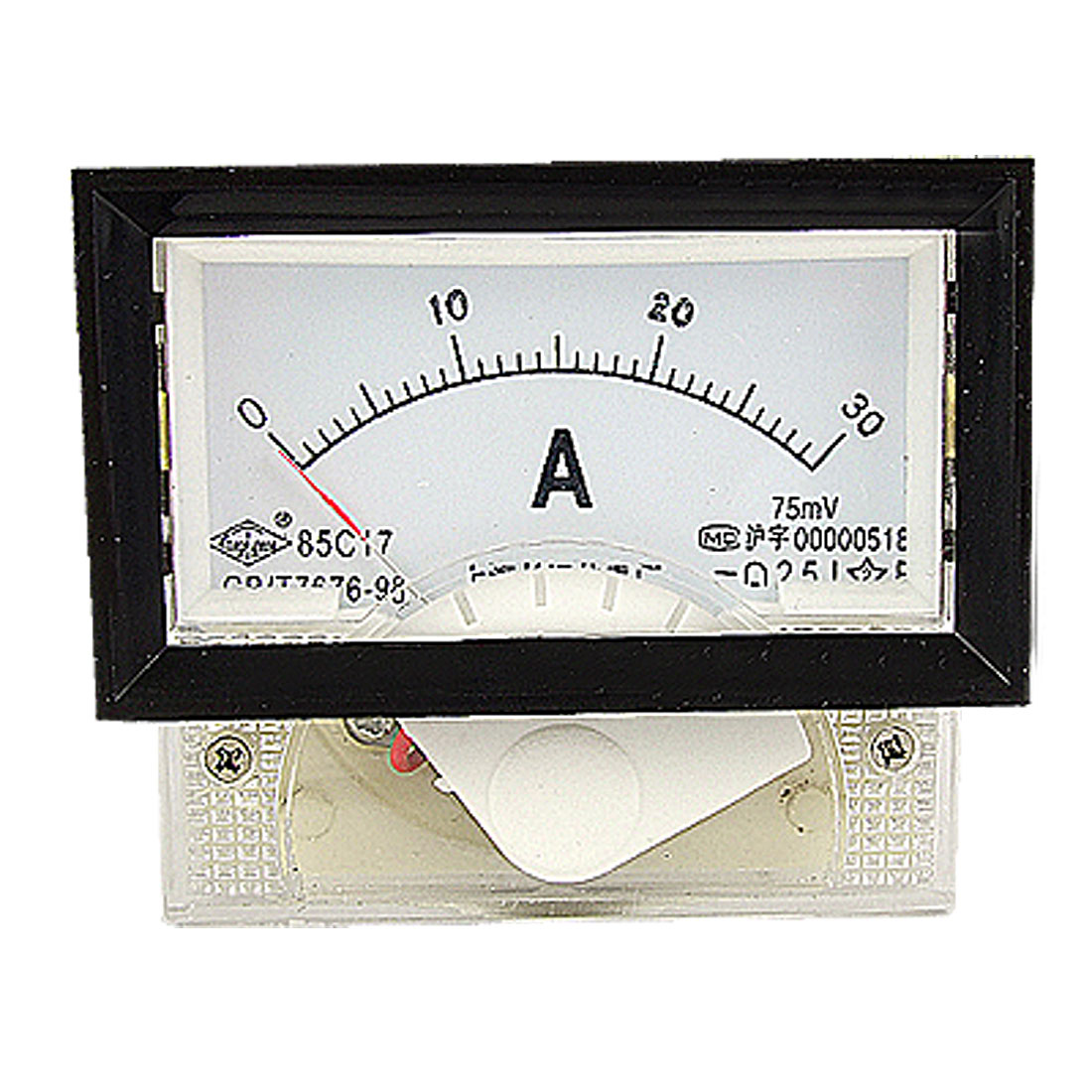 Measuring Instrument DC 0-30A Analog Panel Ammeter 85C17