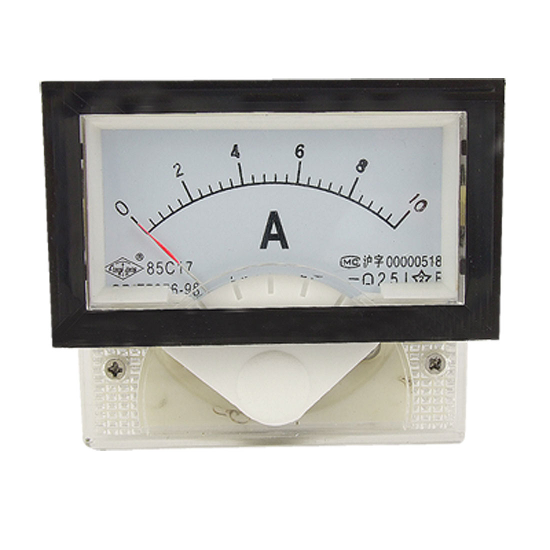 85C17 DC Current 0-10A Red Pointer Analog Panel Ammeter