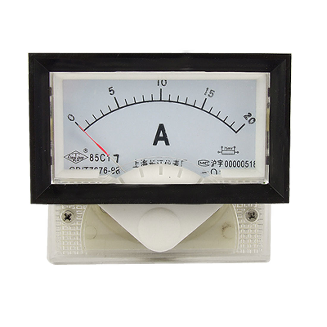 Measure 85C17 DC 0-20A Pointer Analog Panel Ammeter