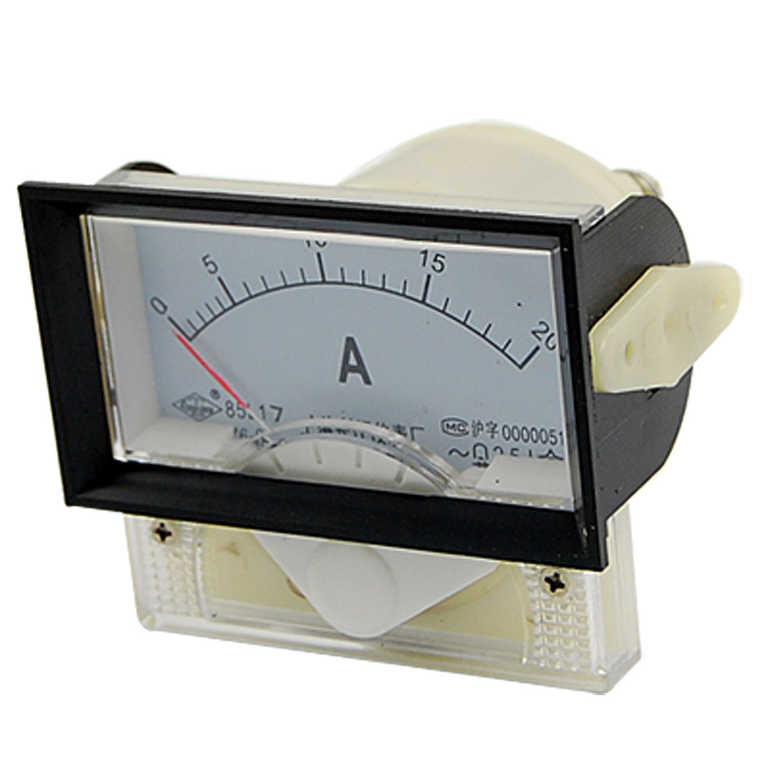 AC 0-20A Plastic Housed Rectangle Mounted Panel Meter Ammeter