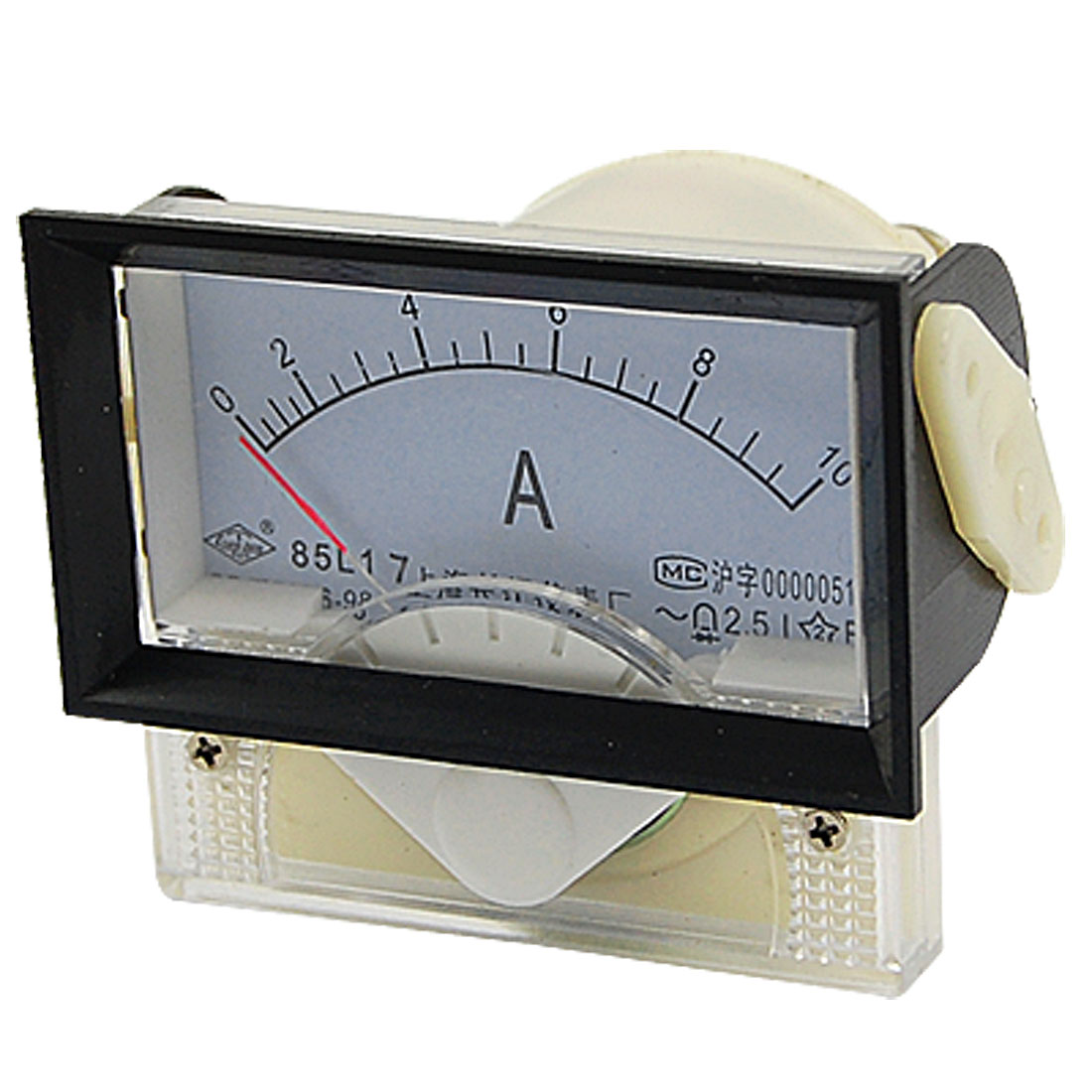 85L17 AC 0-10A Plastic Housed Analog Current Panel Meter Ammeter