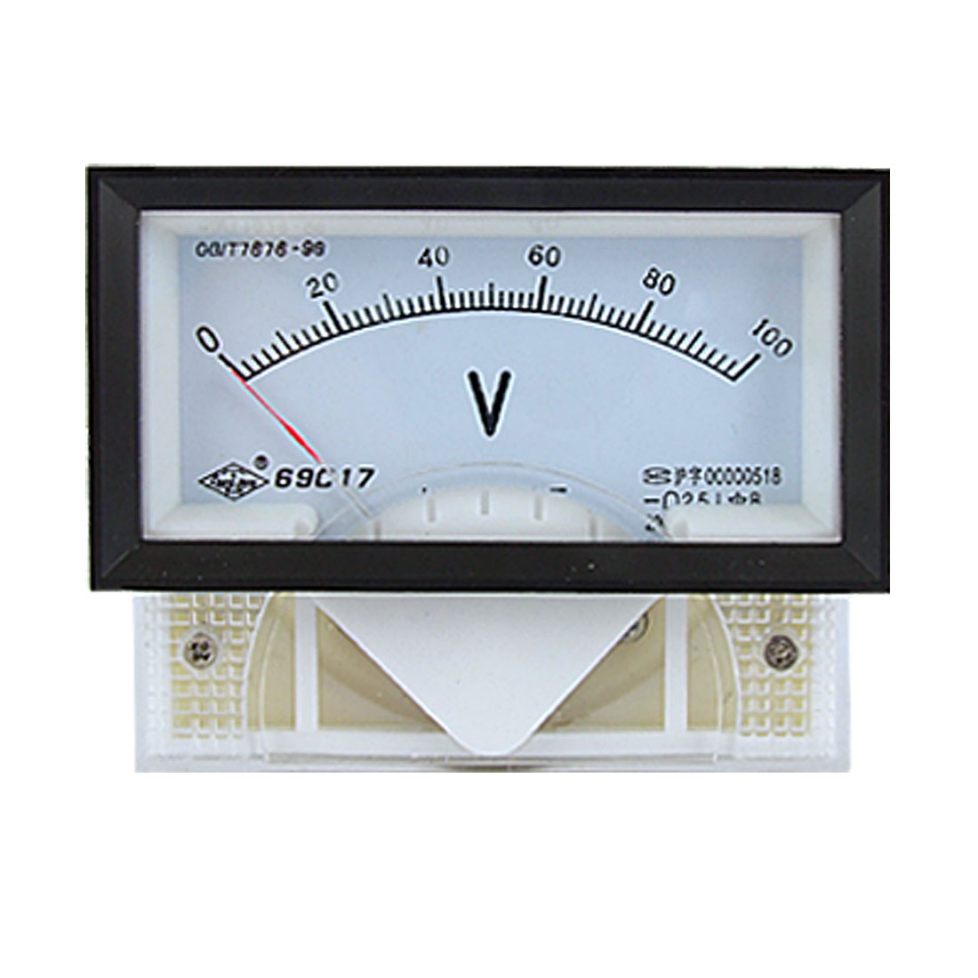 DC 0-100V 2.5 Class Rectangle Panel Analog Voltmeter Gauge 69C17