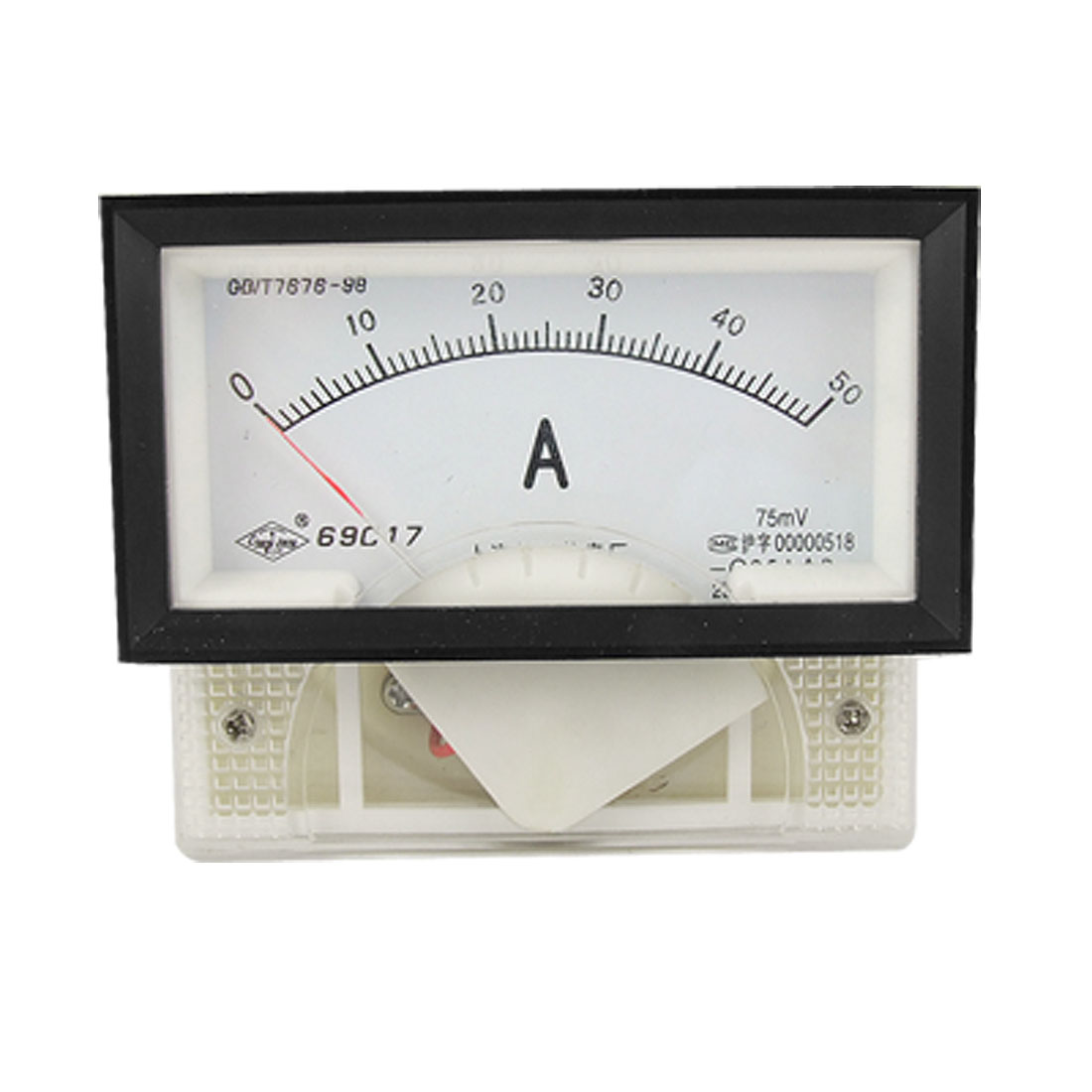 DC 0-50A Rectangle Panel Current Meter Analog Ammeter 69C17