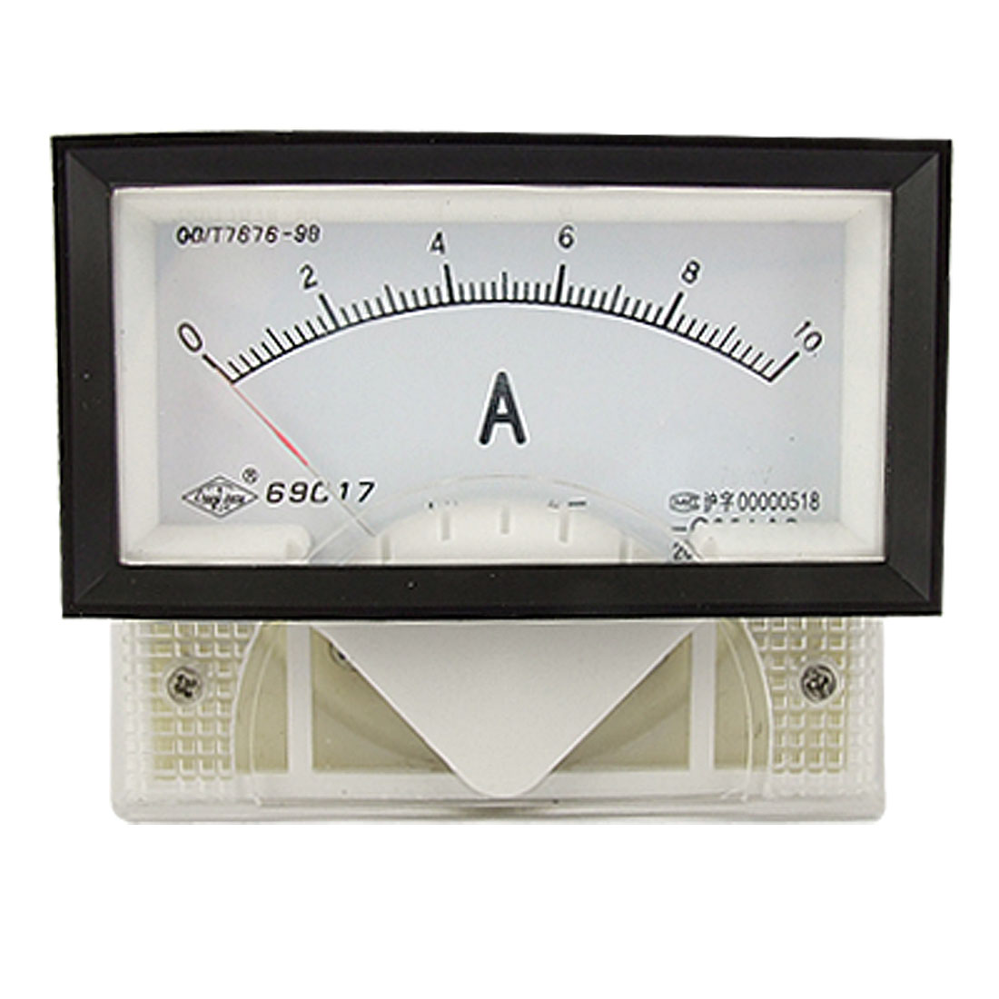 Class 2.5 Accuracy DC 0-10A Rectangle Panel Meter Analogue Ammeter