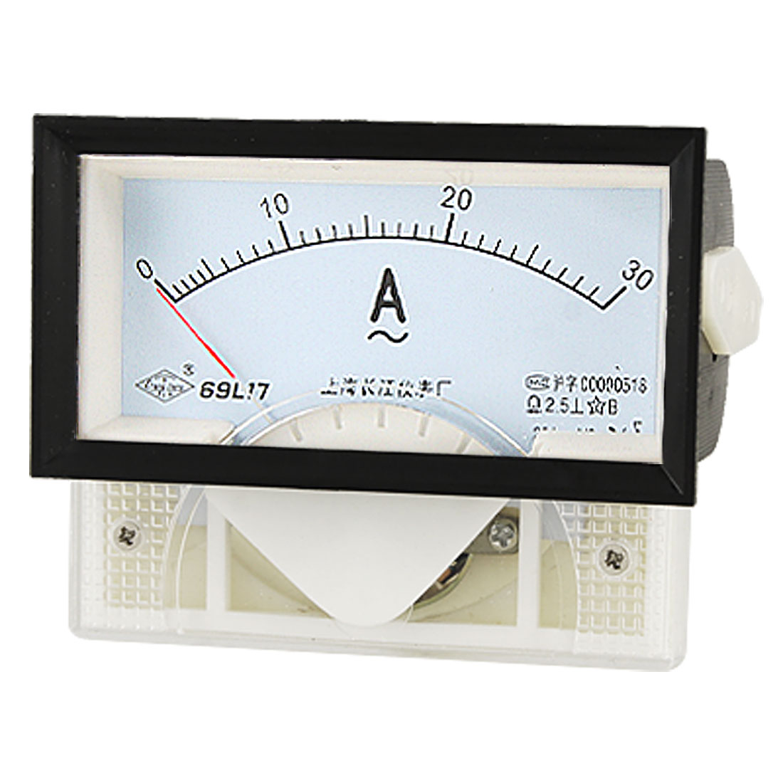 Class 2.5 Accuracy Threaded Mount Panel Analog Ammeter AC 30A