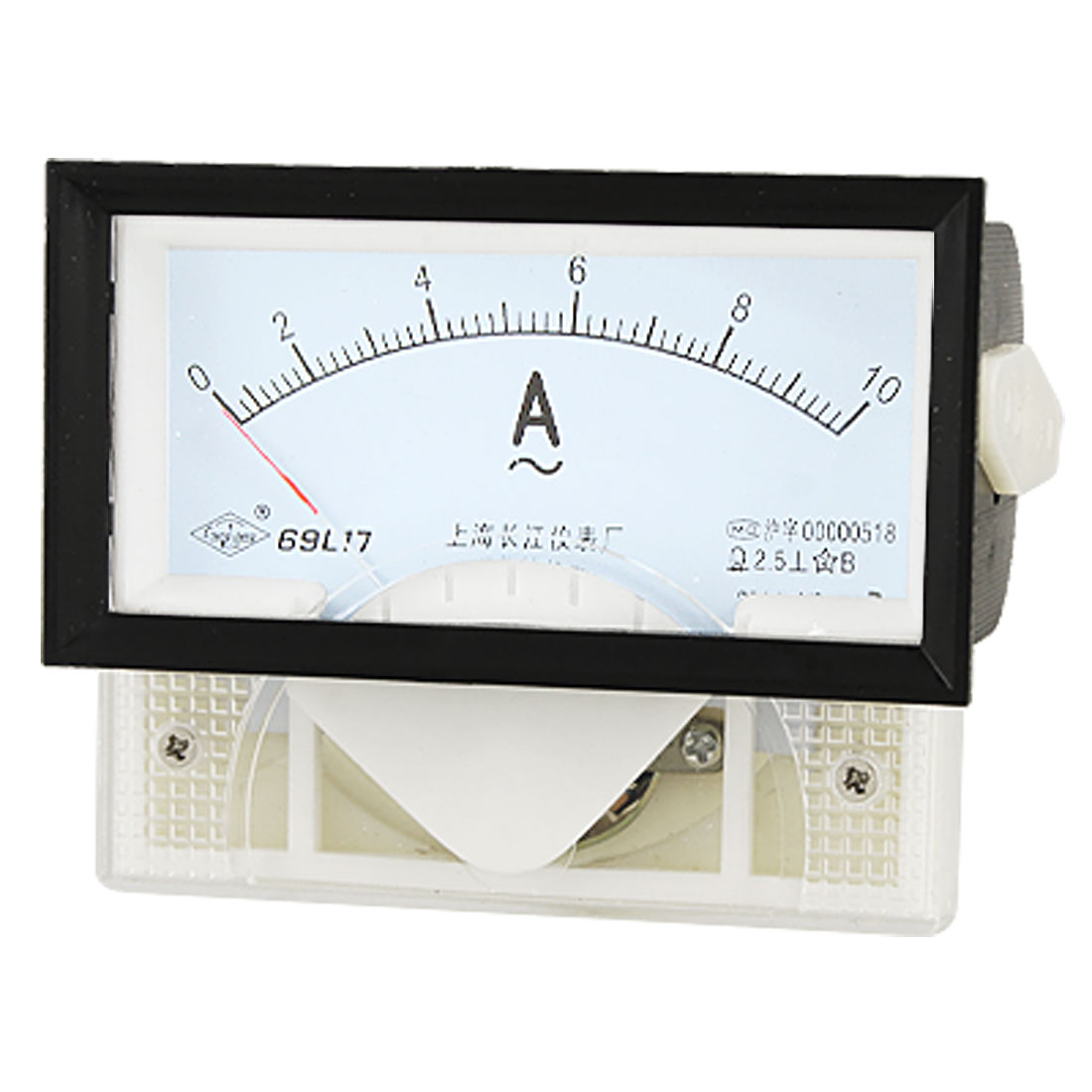 AC 10A Current Measuring Gauge Rectangle Panel Analog Amperemeter