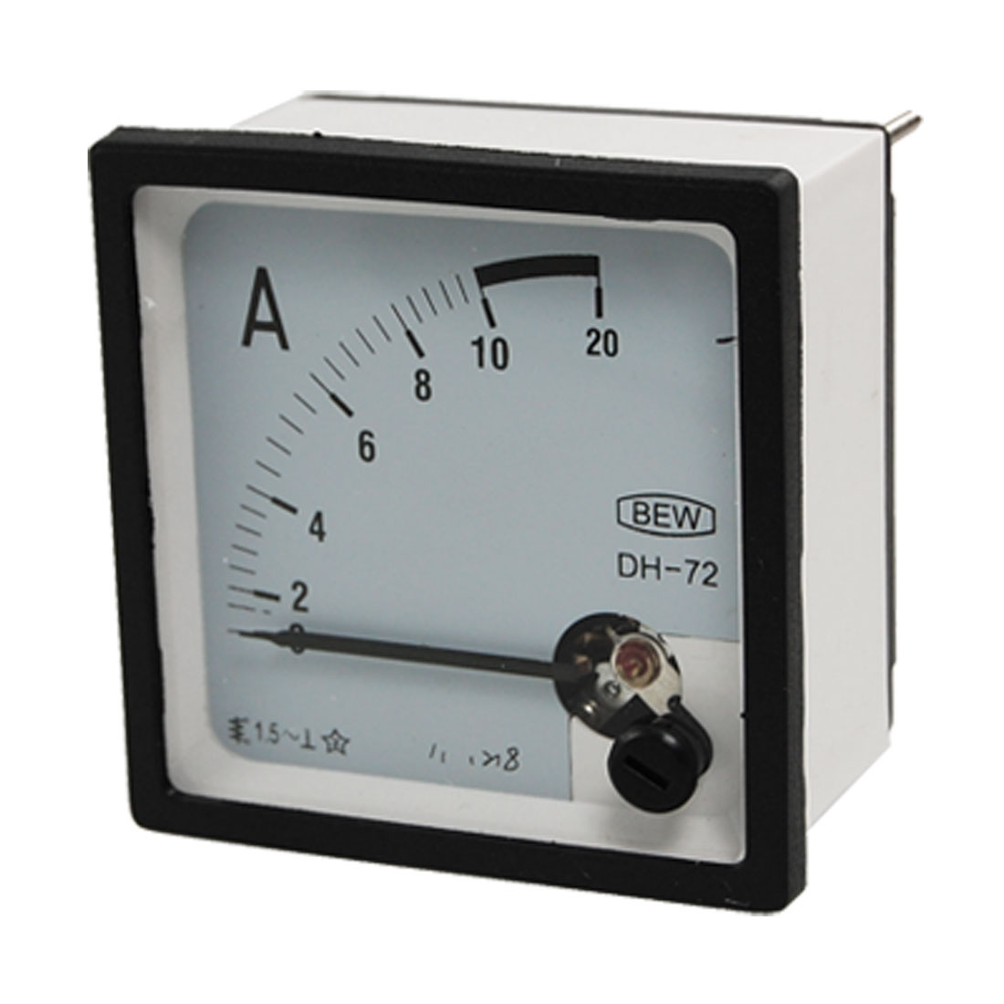 Screw Mounted AC 10A Square Panel Analog Current Meter Ammeter