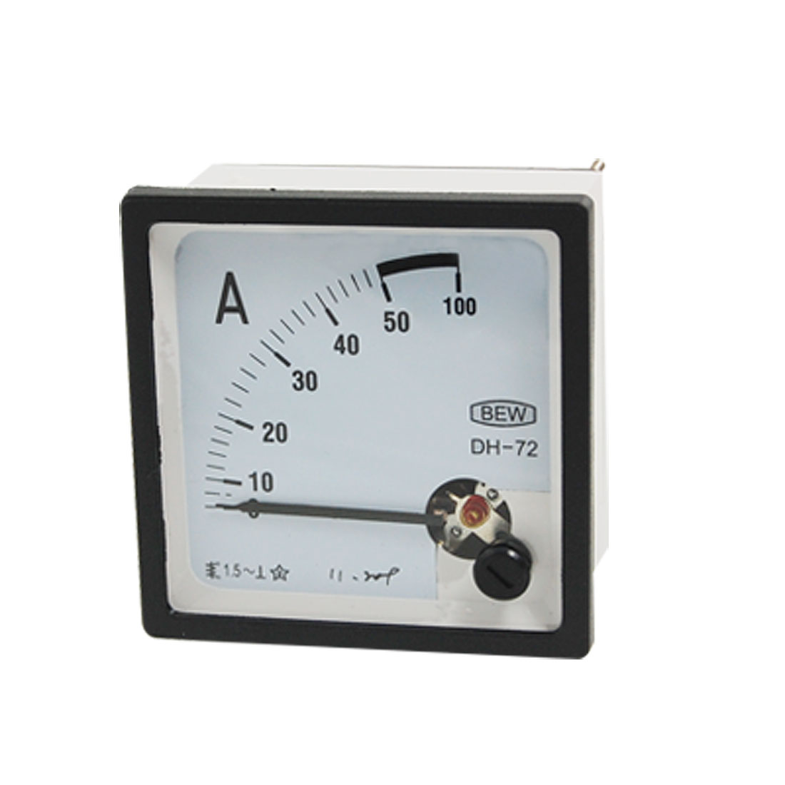 DH-72 Fine Turning Dial AC 0-50A Current Analog Ammeter Panel Meter