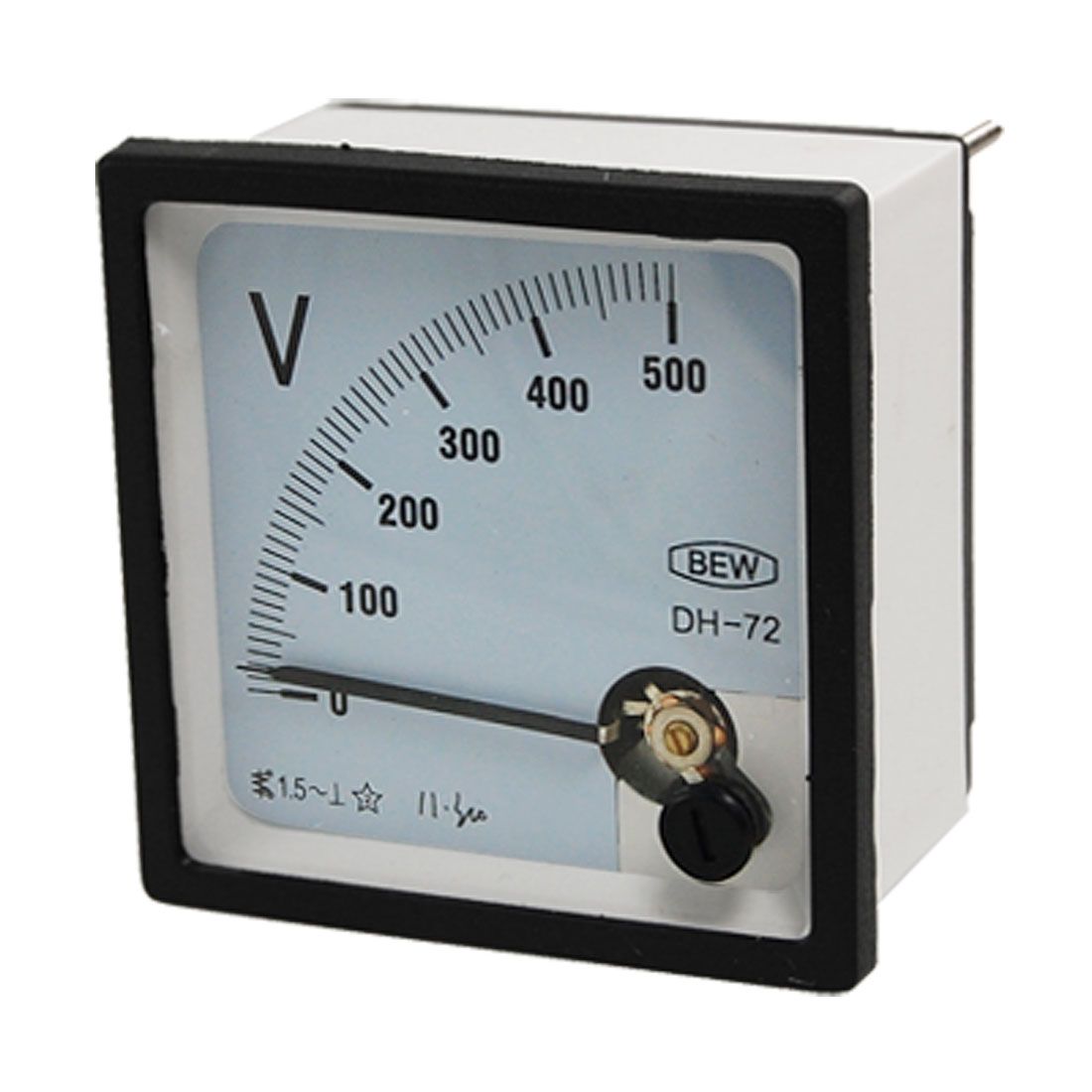 Screw Mount AC 0-500V Square Panel Voltage Meter Analog Voltmeter