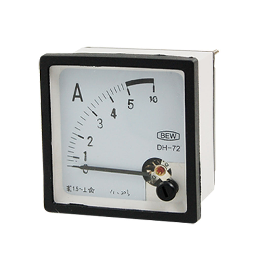 Plastic Housing 5A Analog AC Current Mounted Panel Meter Gauge