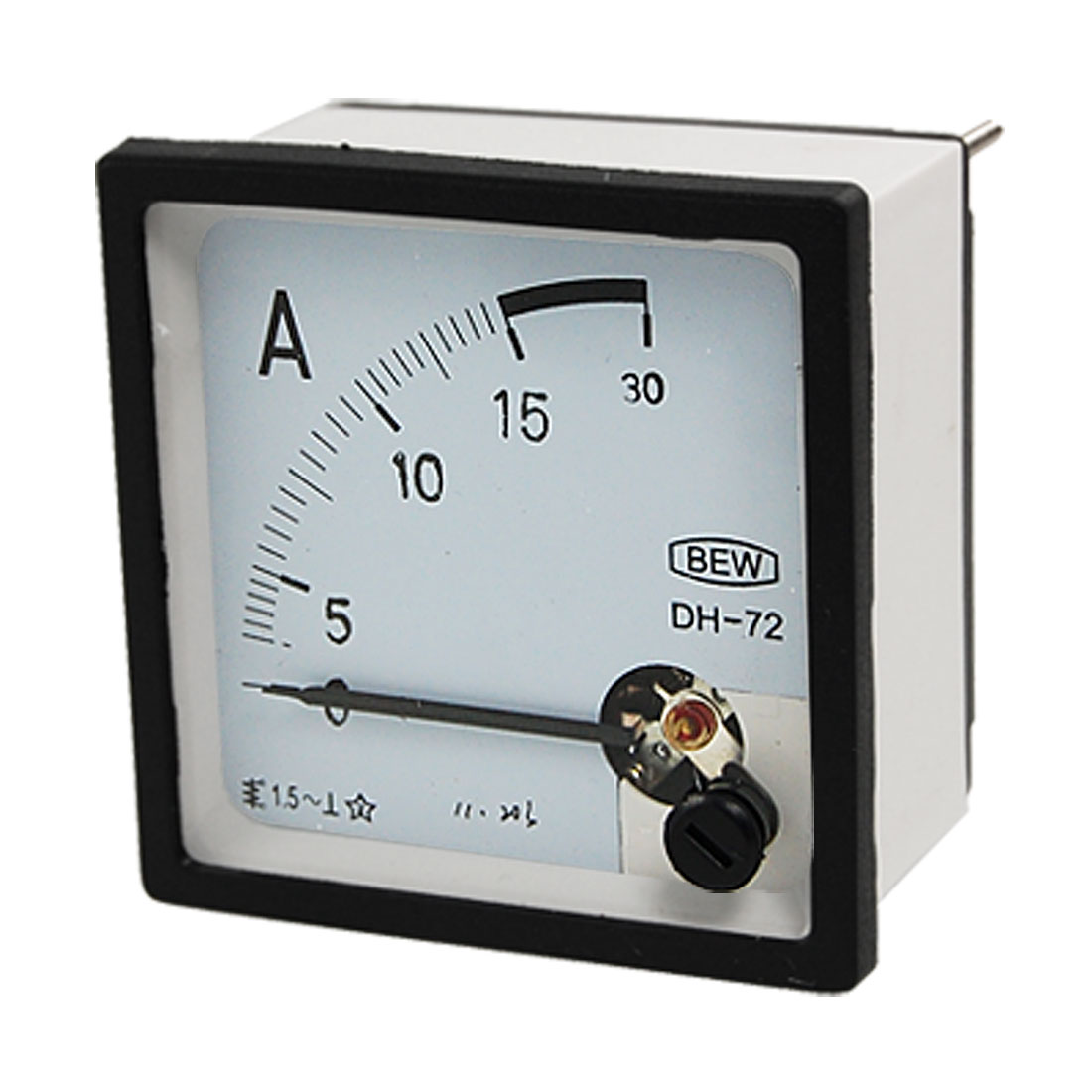 Class 1.5 Accuracy AC 0-15A Analog Square Panel Meter Ammeter DH72