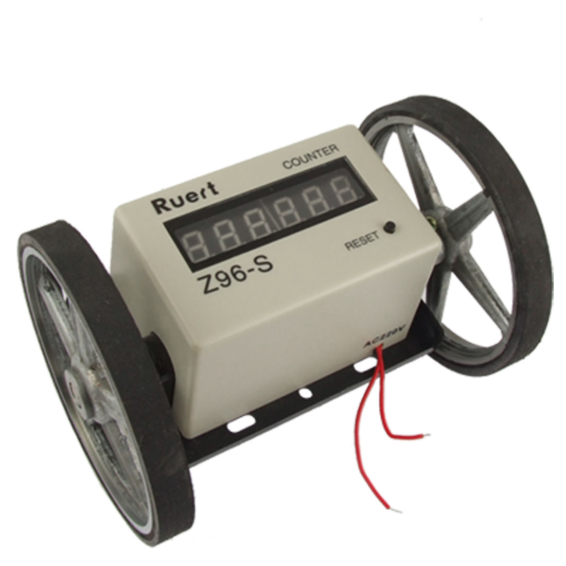 AC 220V 6 Digits Wheel Encoder Resettable Length Measure Counter