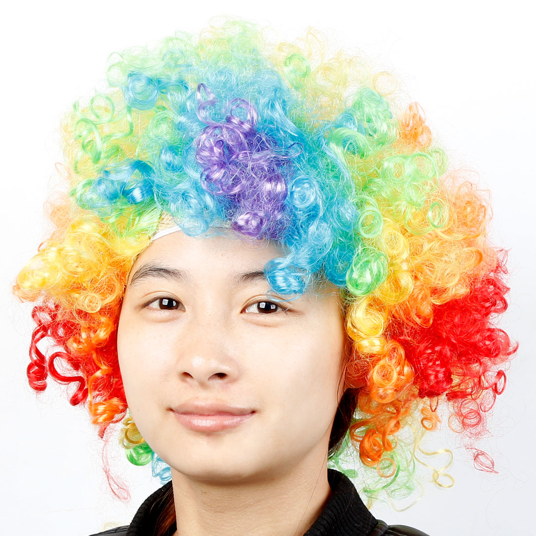 Costume Cosplay Party Colorful Clown Wig Wild Curl up Hairpiece